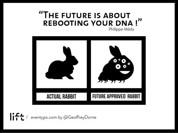 #lift14 What is future ? Future is a like rabbit. Thank you @Merkapt ;-) http://t.co/n3cSt7K43D