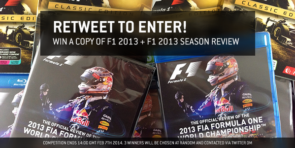 COMPETITION: RT for a chance to win F1 2013 + The F1 2013 Season Review courtesy of @DukeVideo! http://t.co/j2F1UdMYTw