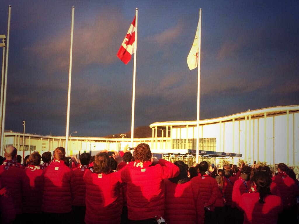 Twitter / CDNOlympicTeam: #TeamCanada looks on as the ...
