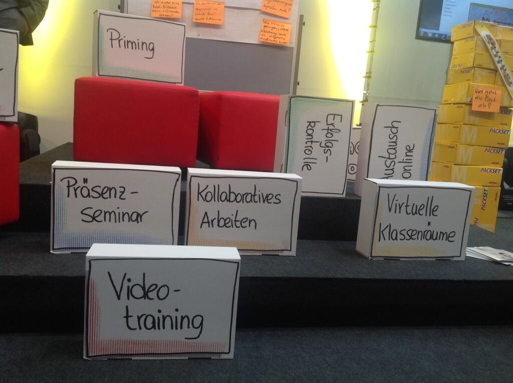 Live-Seminarplanung nach dem Baukastenprinzip auf der LEARNTEC2014.