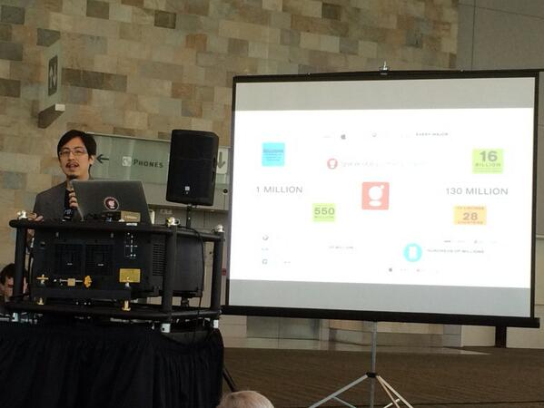 .@cweichen presenting the Gracenote API's and challenge for #TVHackfest #AppsWorld http://t.co/qn0JAFtF0p