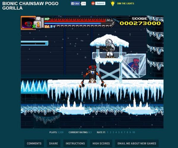 Nintai of SHODN fame appears frozen in ice in @imockery and @adultswimgames   new game Bionic Chainsaw Pogo Gorilla! http://t.co/yXmY92Skdr