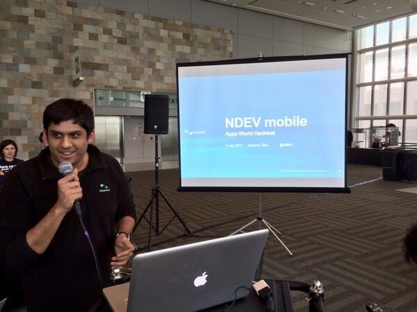 .@ntikku showing off @NuanceInc API's at #Hackfest #Appsworld #TVHackfest http://t.co/0LFO4AzFFr