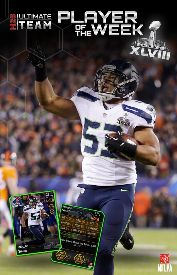 Any1 want this? RT @EAMaddenNFL: RETWEET 4 ur chance to win the #SB48 MVP @MalcSmitty 4 ur #Madden25 Ultimate Team! http://t.co/LXX5SjgWzA