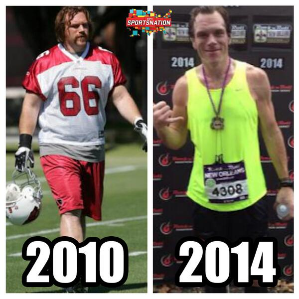"SportsNation on Twitter: ""Alan Faneca is a former 9x Pro Bowl Offensive  Lineman. Now he is a skinny marathon runner."