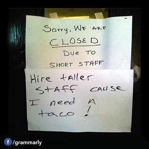 Ha! RT @Grammarly: Don't mess with hungry. Right @SNICKERS ? #grammar #pedantry http://t.co/YHJMh9dNDt