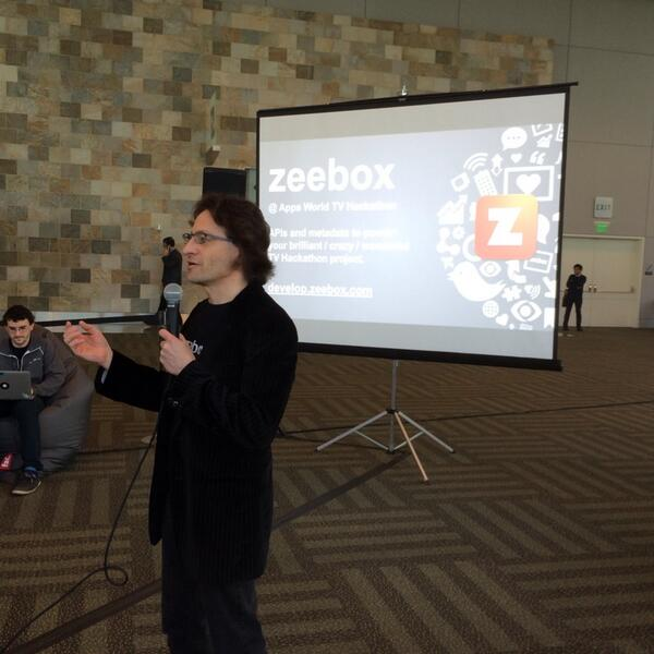 .@anthonyrose Kicking off #TVHackfest with a presentation of the @zeebox API! http://t.co/6Rf0r9598a