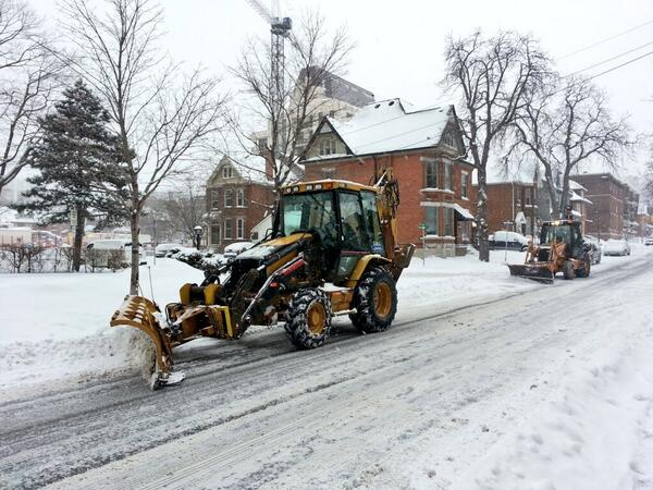 Plows on Bay Street South