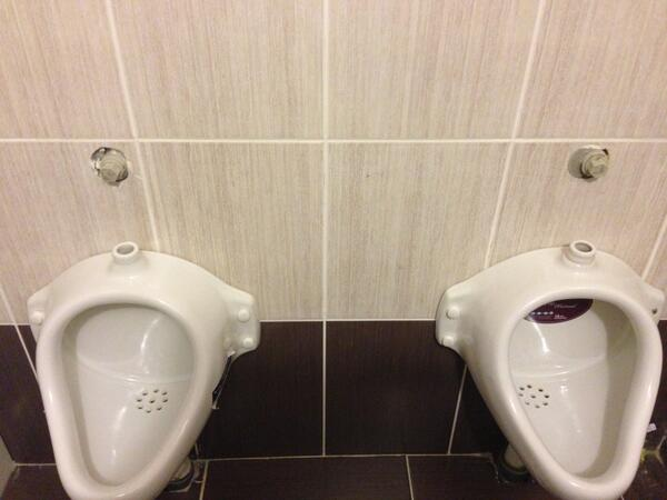 I'm no plumber, but I don't believe these urinals in the hotel lobby have any pipes. #Sochi #peedinitanyway http://t.co/OxoXpDvC5x