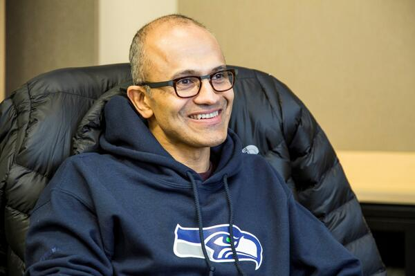 Satya Nadella is a Seattle Seahawks fan