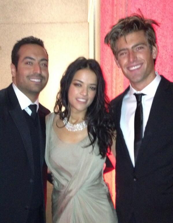 At @amfar charity gala with @mrodOfficial and @justinhopwood_ @BurberryME @AvakianGeneve #NYFW http://t.co/j31vUJG6RD