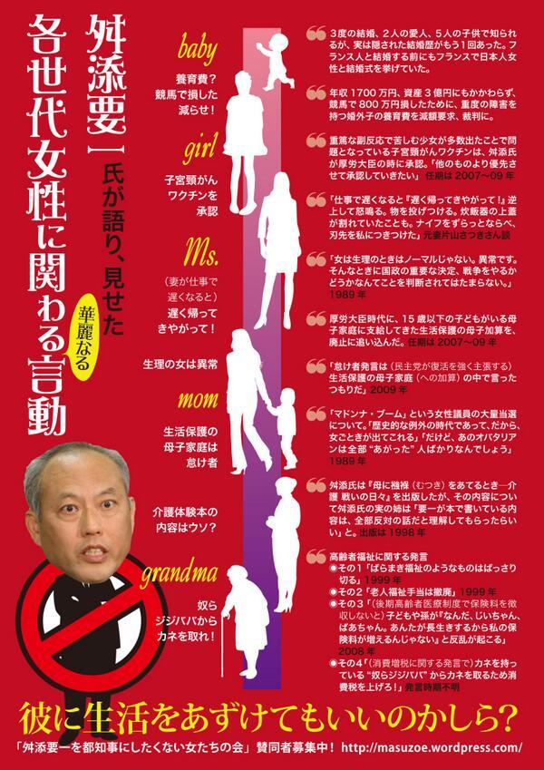 こんな分かり易い舛添候補の人となりが解るポスターができました!! http://t.co/CDPaXhMjSt