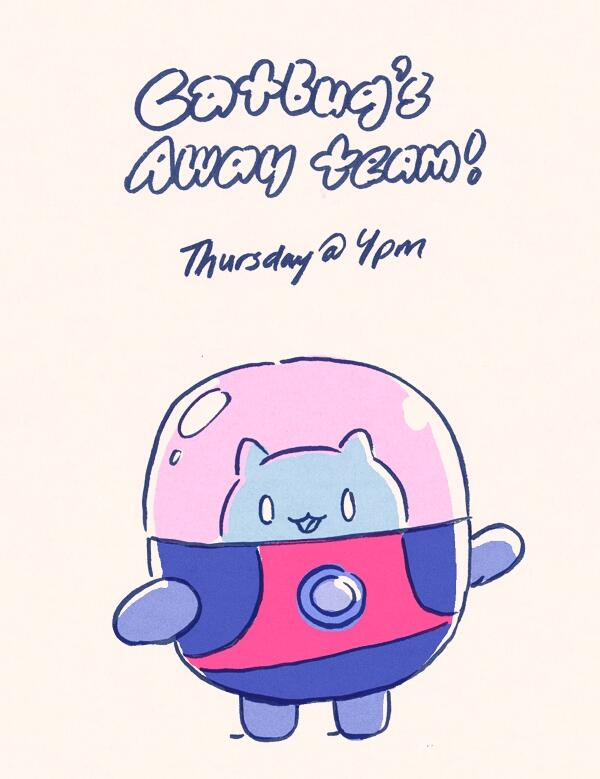 CATBUG'S AWAY TEAM! New Bravest Warriors episode tomorrow afternoon at 4pm, I think. http://t.co/8Dv9X99bd9