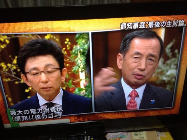 田母神氏いわく「福島第一原発の周りは放射能は全く危険でない。無理矢理避難させているだけだ。日本でも世界でも、どの学者もそう言っている」。凄い暴論。古舘氏も「今、避難して苦労している人がいるんですよ」/報道ステーション http://t.co/SO5cAqNZEr