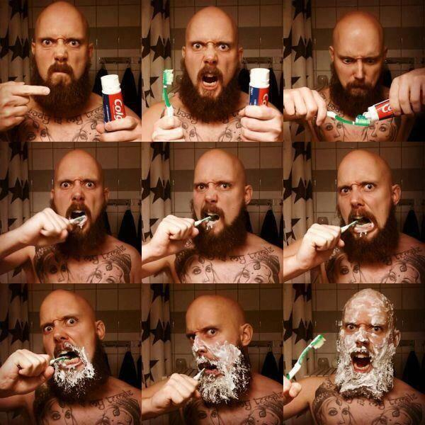 Be careful what you listen to when you are cleaning your teeth... Never clean your teeth to @PlanetRockRadio http://t.co/OD8Ou1i1YB