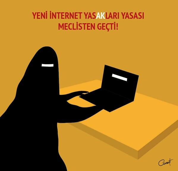 """İnternet sansürü için kullandıkları görseldeki kadın figürü """"çarşaflı kadın"""" bu bir çeşit nefret söylemidir https://t.co/9GIug1QHP3"""