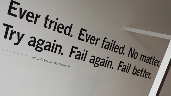 Our new exhibition #FAILBETTER launches tonight! Have you ever tried, ever failed? http://t.co/8UOk2LWBjH