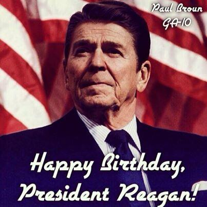 Retweet to wish President Reagan a Happy Birthday! http://t.co/RYcCja180R