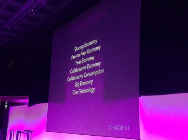 So many terms around sharing economy : peer economy collaborative economy, civic technology #lift14 http://t.co/8rjHFfbtRk