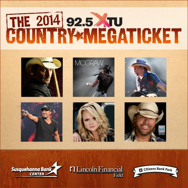Live Nation Philly On Twitter PRESALE For The 2014 925 XTU Country Megaticket Is LIVE Get Tix Here Tco XPRaC3FrrQ Password Earlybird