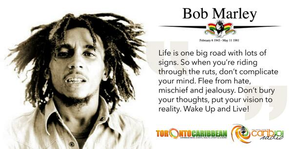 Celebrating the birthday of a legend - Bob Marley Feb. 6 1945. Happy Birthday! http://t.co/1MFUKn71cQ