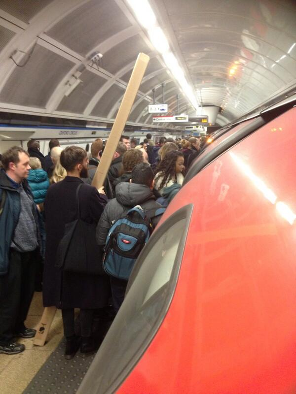 If this man gets on a tube tonight he deserves a medal! #tubestrike http://t.co/I87L99d4vz