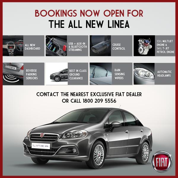 2014 All-new Fiat Linea bookings open