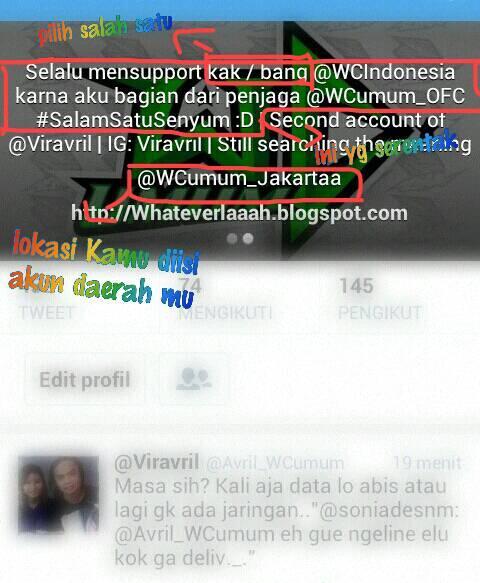 Wendi Cagur Ofc Sur Twitter Ini Contoh Bio Yang Pake Bahasa Indonesia Boleh Di Tambahin Acc Kak Ayuunatasya Juga D Http T Co Cm1tsru1dk