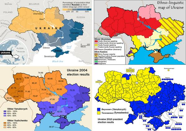 #Ukraine maps: ethnic and linguistic groups, and 2004 and 2010 election results (via http://t.co/fgZn3hwNXS): http://t.co/iRgbUKB7jA