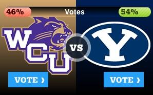 We trail BYU 46-54% in this battle, ultimately for a $100,000 prize. Vote! #6thFan #WCAR  http://t.co/OL7EH7cfjD http://t.co/VRNd4XsDjs