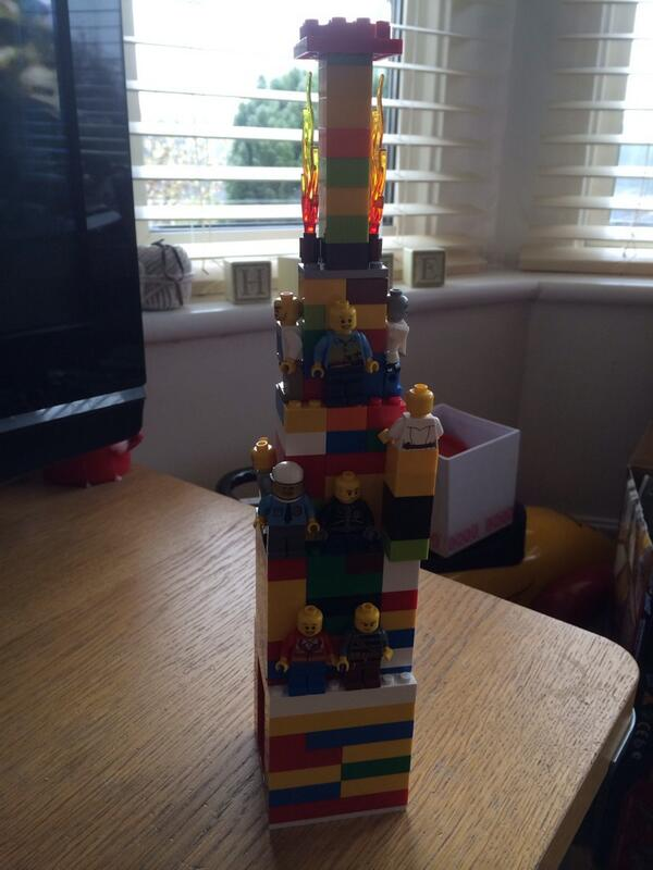 Lucy Stone On Twitter Son So Inspired By Thelegomovie Is Recreating Scenes With His Lego Here S Lord Business Tower Thelegomovie Http T Co A778d2opsa
