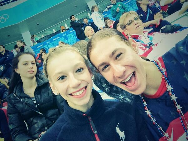 HUGS TO U BOTH!! @jasonbskates: @PolinaEdmunds came up 2 sit with us 2 cheer on @AshWagner2010  #TeamUSA http://t.co/sJpJRlBFHd""