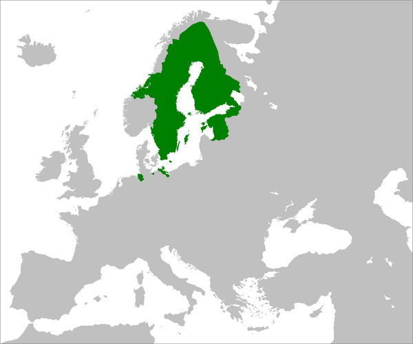 Amazing Maps On Twitter The Swedish Empire At Its Height - Map sweden 2014