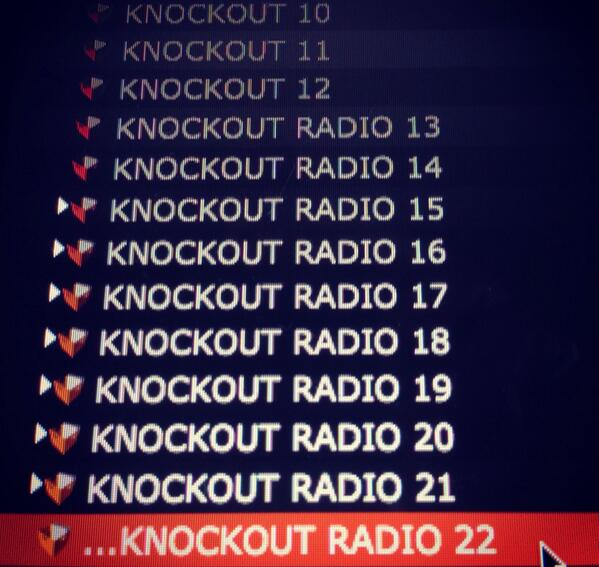 Up next KNOCKOUT RADIO 22 - get your requests in! #Toronto http://t.co/OdRPCfQgfF