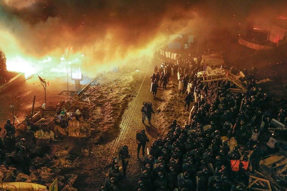 Espectaculares imágenes de los disturbios en Kiev Bg2kiyYCQAA8g5X