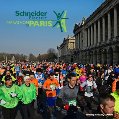 For the second year, Schneider Electric is title sponsor of the #ParisMarathon on April 6, 2014. Over 40,000 runners! http://t.co/wMcPSciBIK