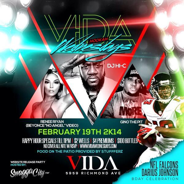 Tonight #vidalounge 5959 Richmond http://t.co/t9jdMh4IXJ Hosted By Model @reneeriyan No Cover w RSVP http://t.co/Wn7MJi6B8m
