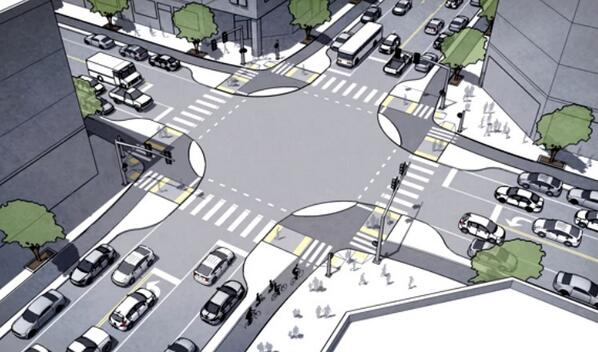 New on Front Page: Portland designer/planner unveils 'protected intersections for bicyclists' http://t.co/oSUwjOdUm9 http://t.co/IyjgVtg8AQ