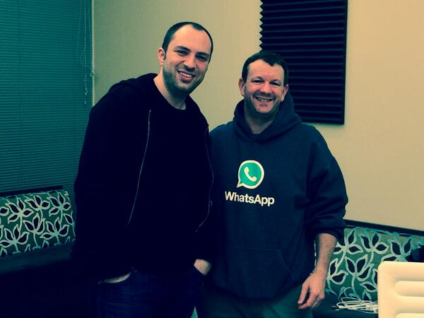 A spectacular milestone for Jan Koum, Brian Acton & the remarkable @WhatsApp team. We couldn't be more proud http://t.co/o7OeaSnbXw