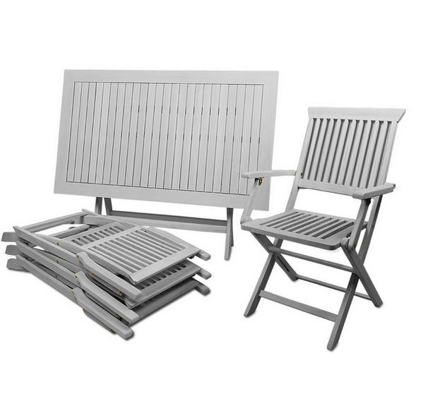 Muebles mesa con 4 sillas para jard n patio y terraza for Mesas y sillas para patios