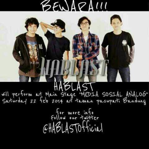 Don't forget to watch @HABLASTofficial at @medsosanalog 22feb2014,enjoy with us!!! http://t.co/lfqaFRZOe6