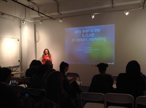 Here we go! @allygreer is ready to dive into some #leancontent! #smwbizcuration http://t.co/SZaVBEX96I