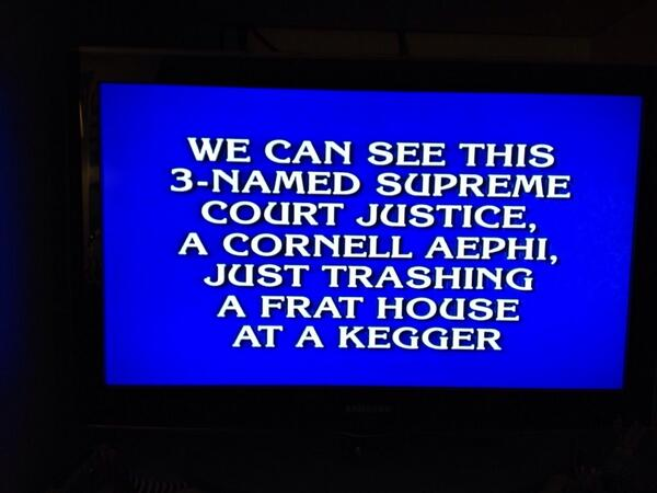 "If you were watching Jeopardy tonight, you would have seen a category called ""Sorority Sisters"". We're phamous! http://t.co/rAg0ZlMWLN"