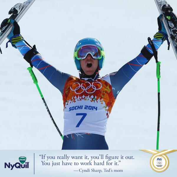 Big Congrats go out to @tedligety on winning GOLD! Just like your mom we knew you could do it. http://t.co/Bx868e5L0r
