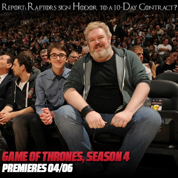 #RTZ Photo: Could have used #Hodor tonight. #GameOfThrones #Raptors http://t.co/28woWzIJx0