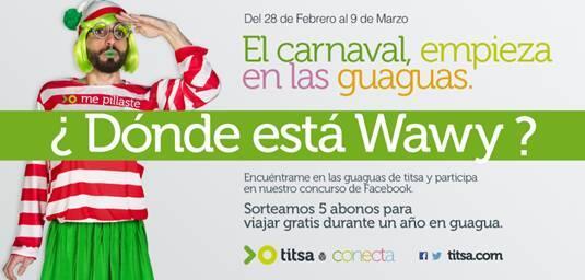 ¿Dónde está Wawy? El día 28 arranca nuestro juego de Carnaval: para viajar gratis todo un año http://t.co/dCfKCtcYWu http://t.co/qtI2InIaM3