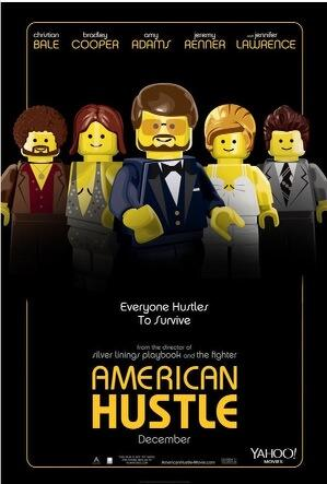 Am loving these Lego versions of movie posters. Here's American Hustle: http://t.co/VCmzmrTRPL