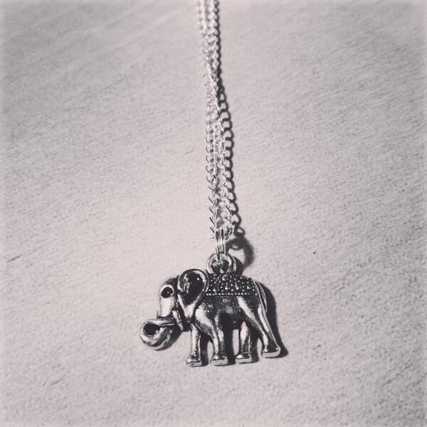 Giving away a couple of these elephant necklaces, RT this to have a chance to win one