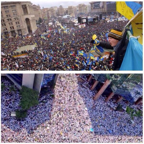 Dos países despiertos, dos países en busca de su libertad.  Ucrania/Venezuela, estamos con ustedes. http://t.co/QbPKPpbUrH