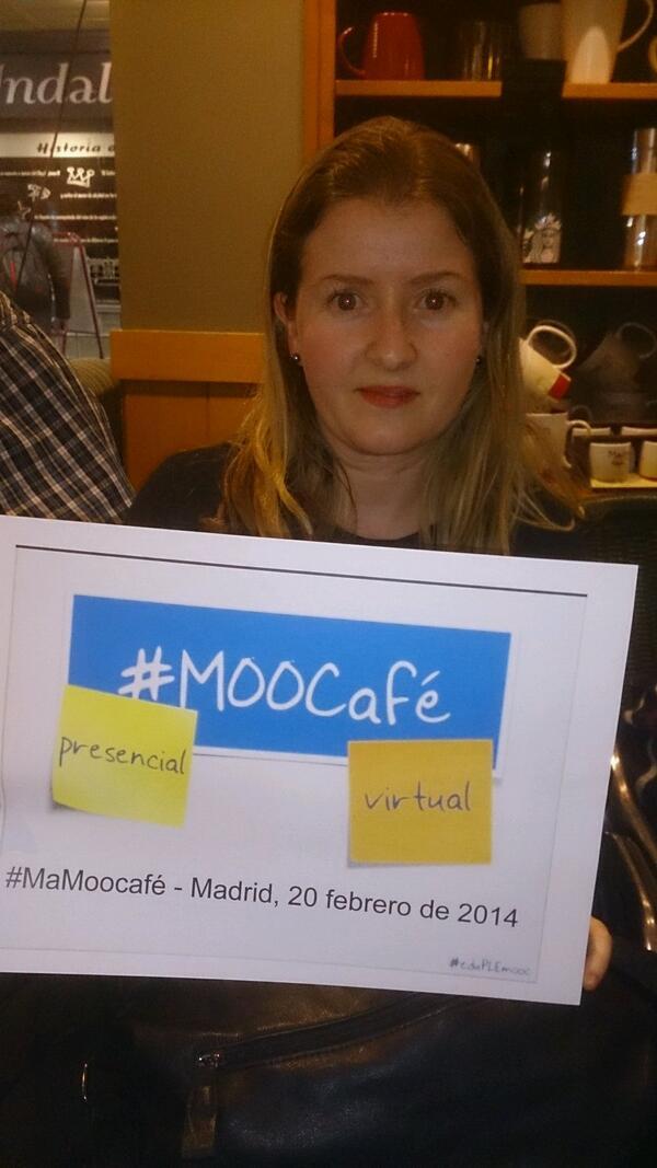 Ya estamos en #MAMoocafé #Madrid Somos muchos. En la foto @agoraabierta con @idocente #EduPLEMooc @eduPLEmooc http://t.co/kQVhRr2Mcv